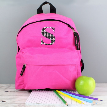 Personalised Star Initial Backpack in Blue or Pink